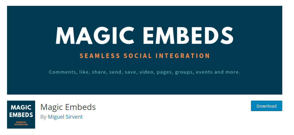Embed Facebook sections on to your WordPress page