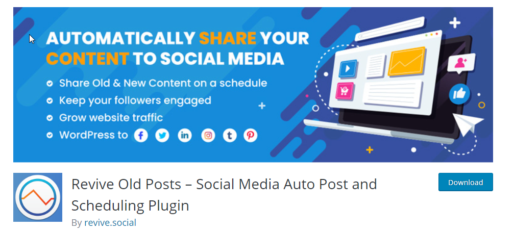 Automatically post old content to twitter from wordpress