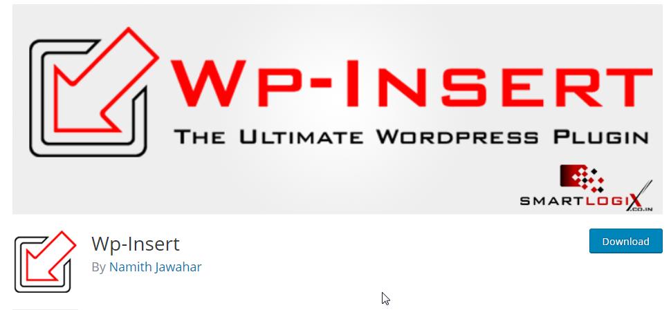 wp insert plugin for wordpress