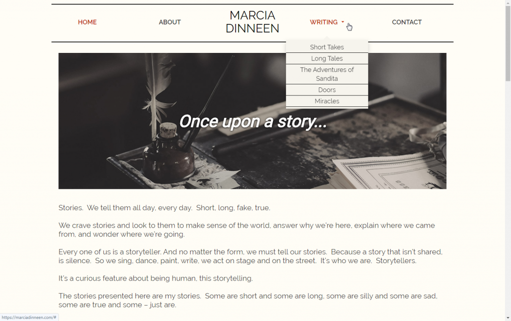 blog categories in main menu