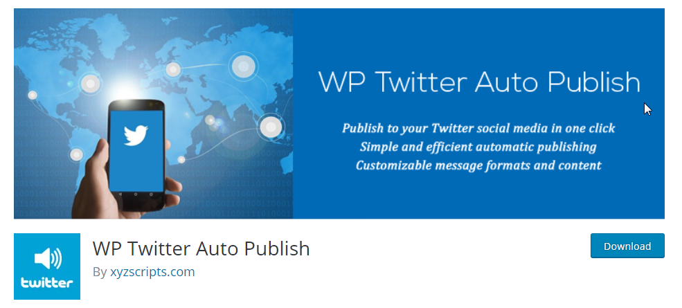Automatically publish new wordpress content to twitter