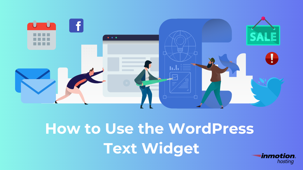 how to use wordpress text widget