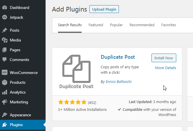 downloaded duplicate posts plugin