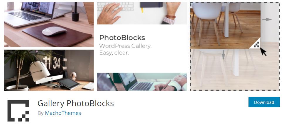 gallery photo blocks free wordpress plugin