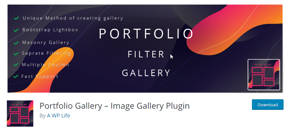 free portfolio plugin for wordpress