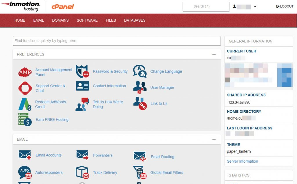 Shared IP address in cPanel