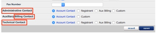 Click on the radial button in order to select a contact to change