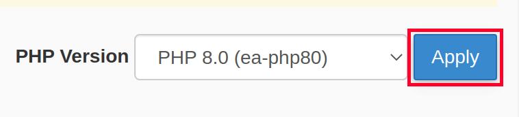 Applying New PHP Version