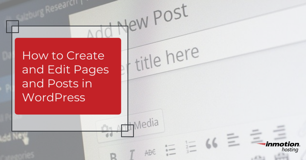 Create Edit post pages