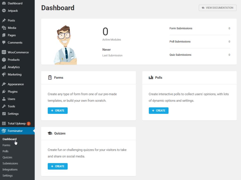 Forminator Dashboard