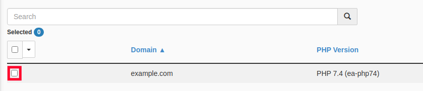 Select the Site You Want to Change the PHP Version On