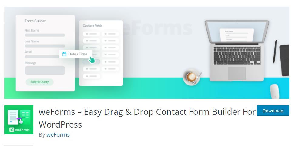 weForms plugin for wordpress