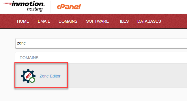 the icon for cPanel Zone Editor