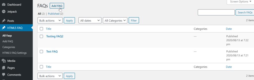 Add FAQ to HTML5