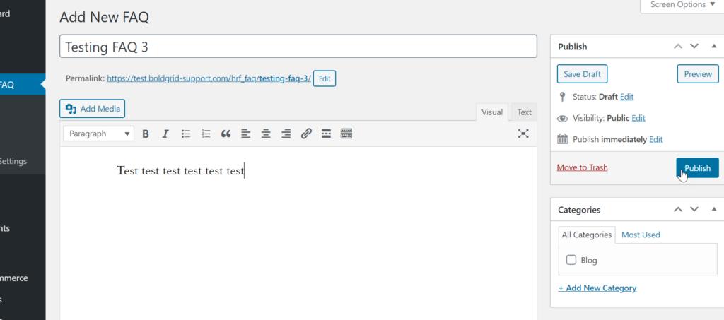 Creating FAQ on HTML5