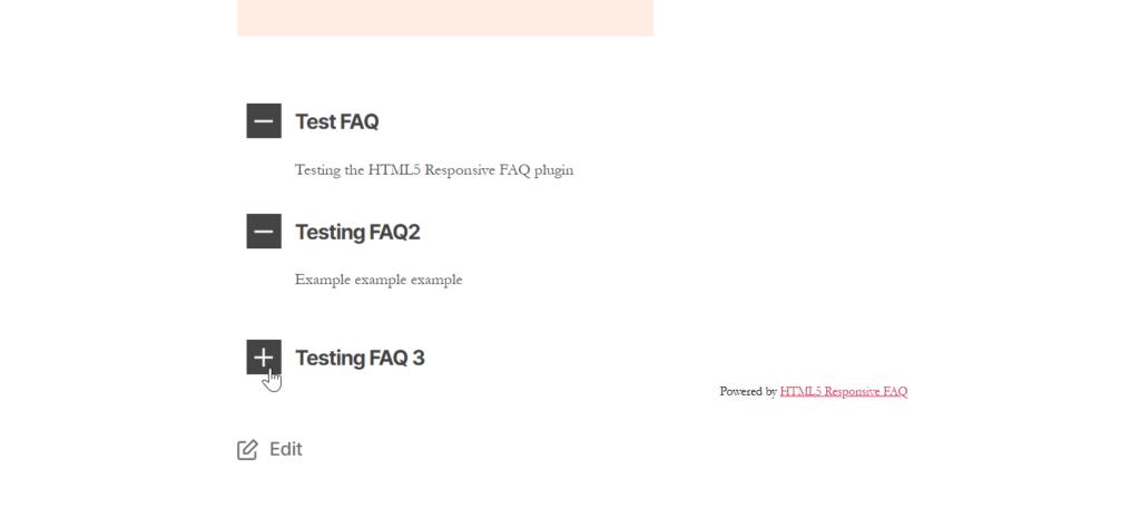 Example of HTML5 FAQ
