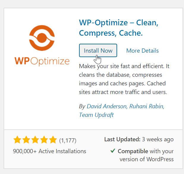 Install wp optimize
