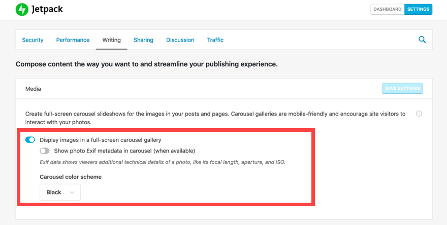 Click on slider to enable the slideshow block