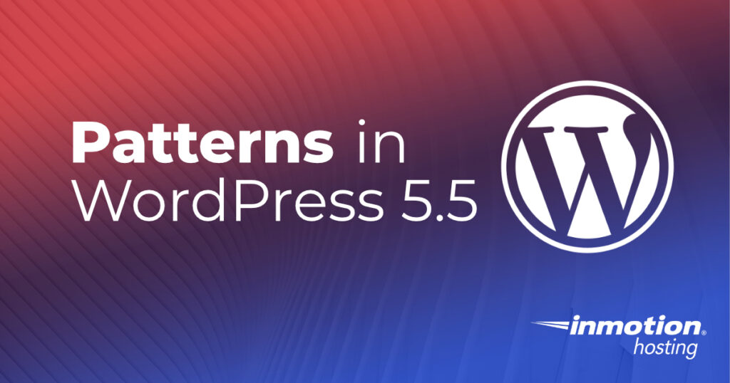 WordPress 5.5 patterns header image
