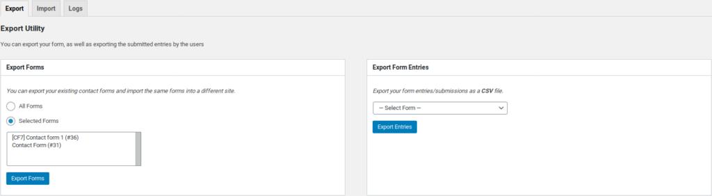 weforms export