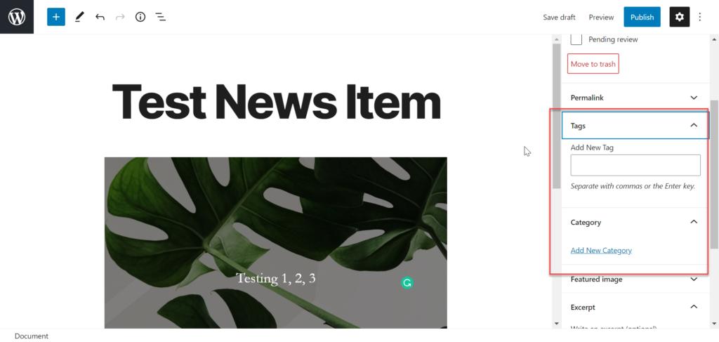 Add new news item