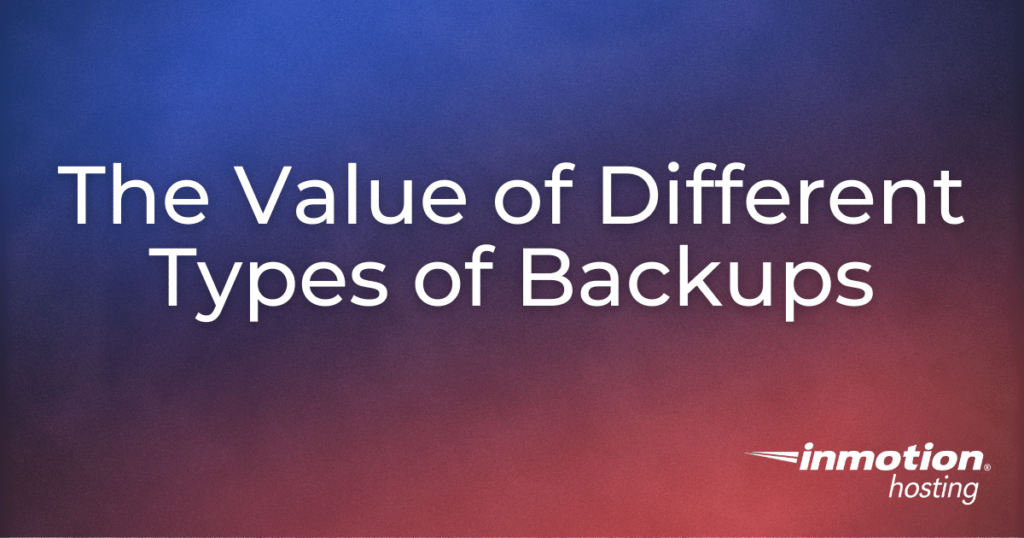 different types of backups title image