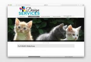 Screenshot of full width slideshow
