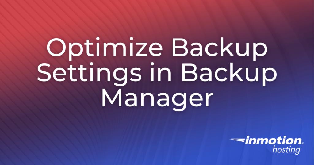 backup manager settings title image
