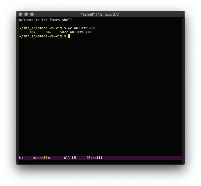 The Emacs shell.