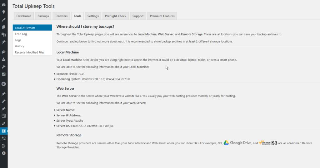 total upkeep tools homepage