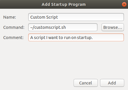 Add custom script