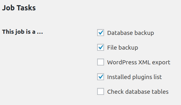add backup items in backwpup