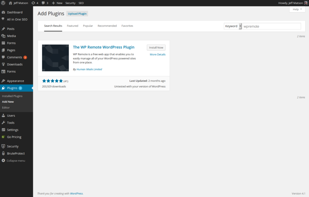 wp remote plugin in wordpress
