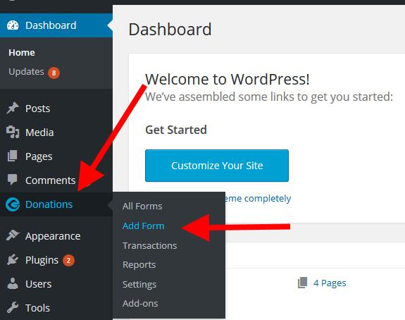 GiveWP Plugin settings