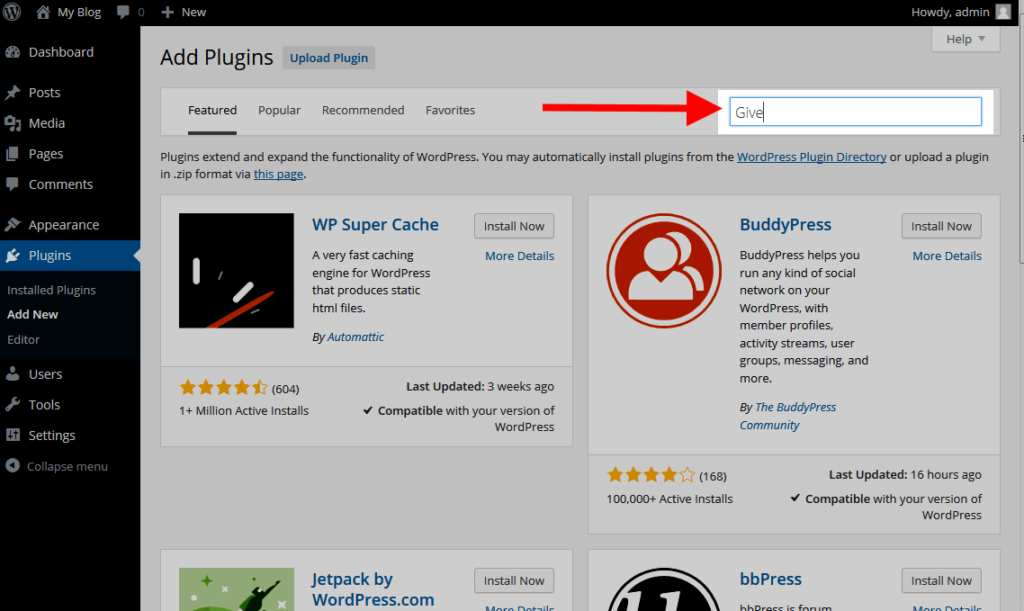 find give plugin