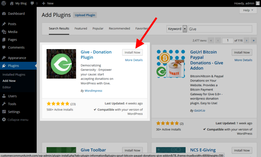 install give plugin