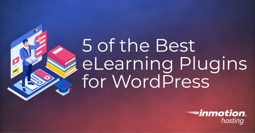 5 best elearning plugins for WordPress title graphic
