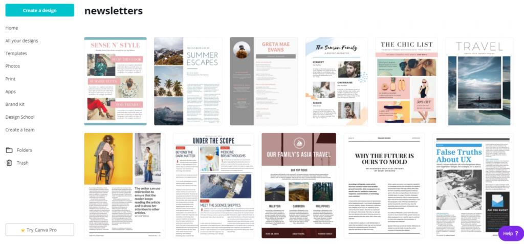 canva for wordpress newsletters