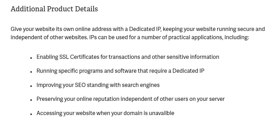 Dedi IP Details