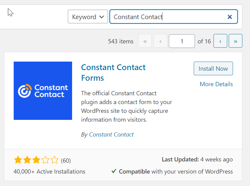 install constant contact