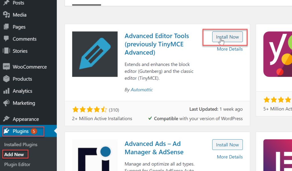 install advanced editor tools