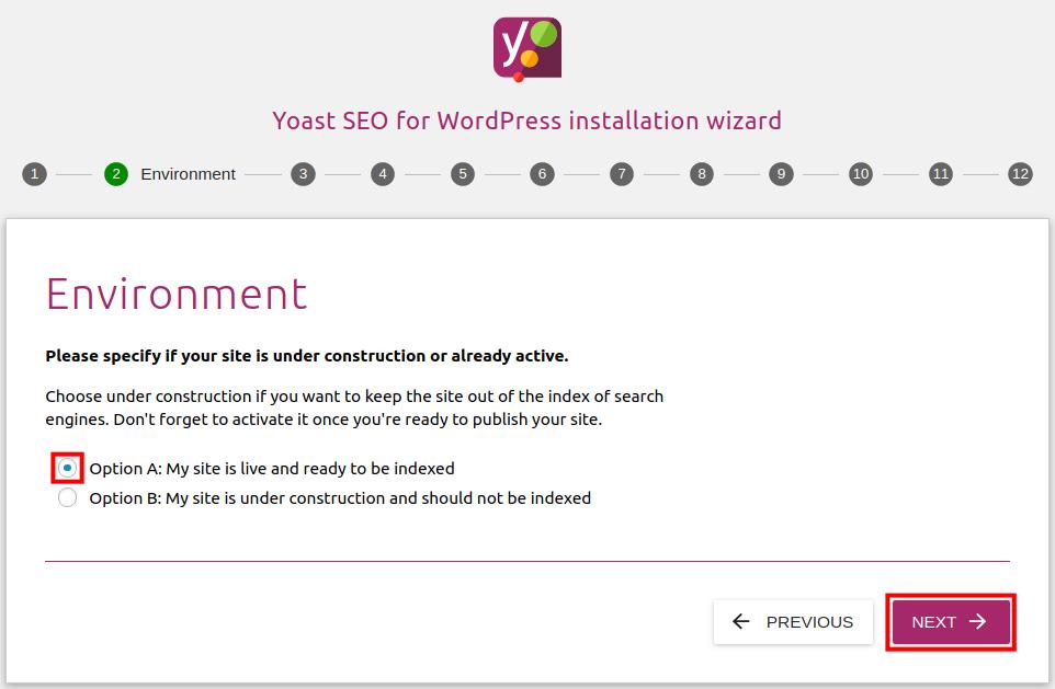 yoast configuration setup steps
