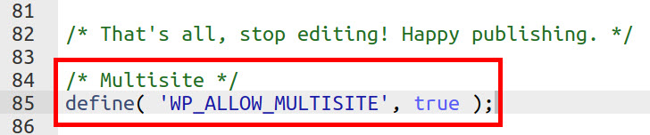 allow multisite