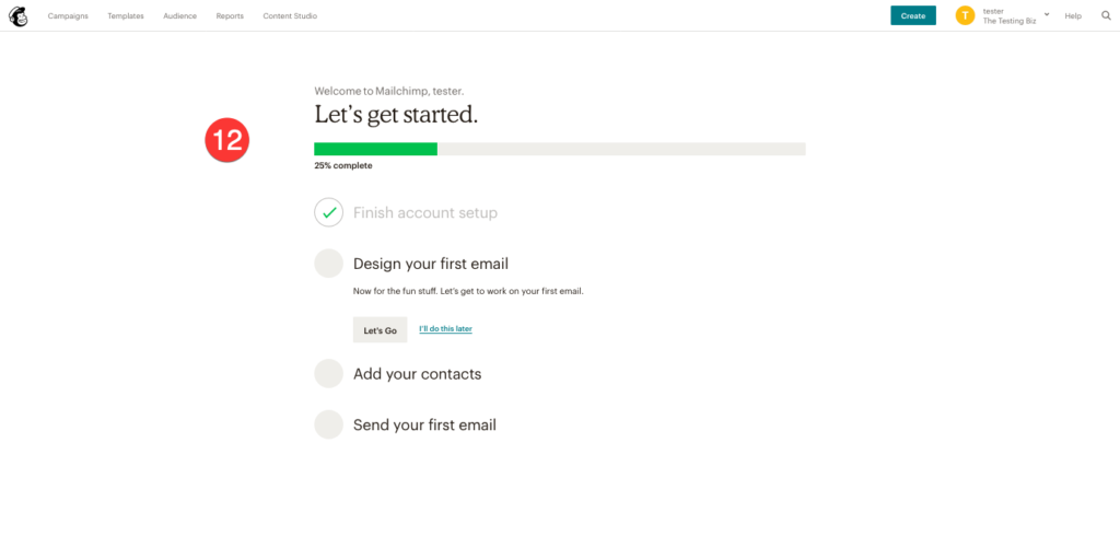 status page in mailchimp