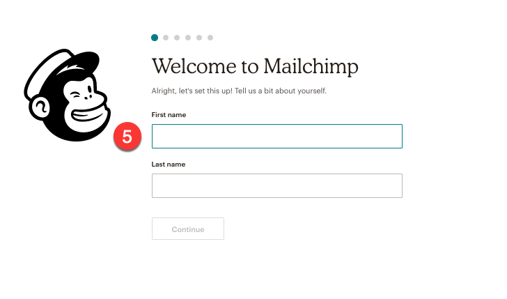 add name for mailchimp account
