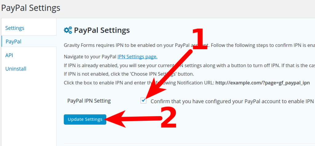 paypal gravity forms