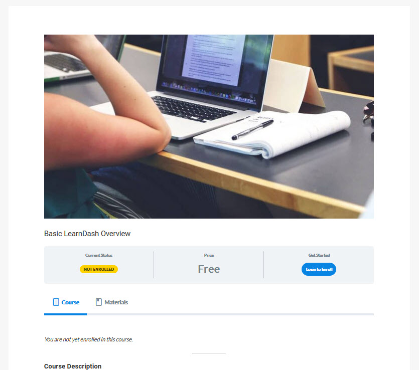 LearnDash Course screenshot