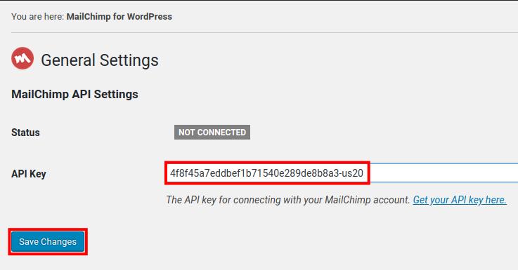 add mailchimp api to wordpress