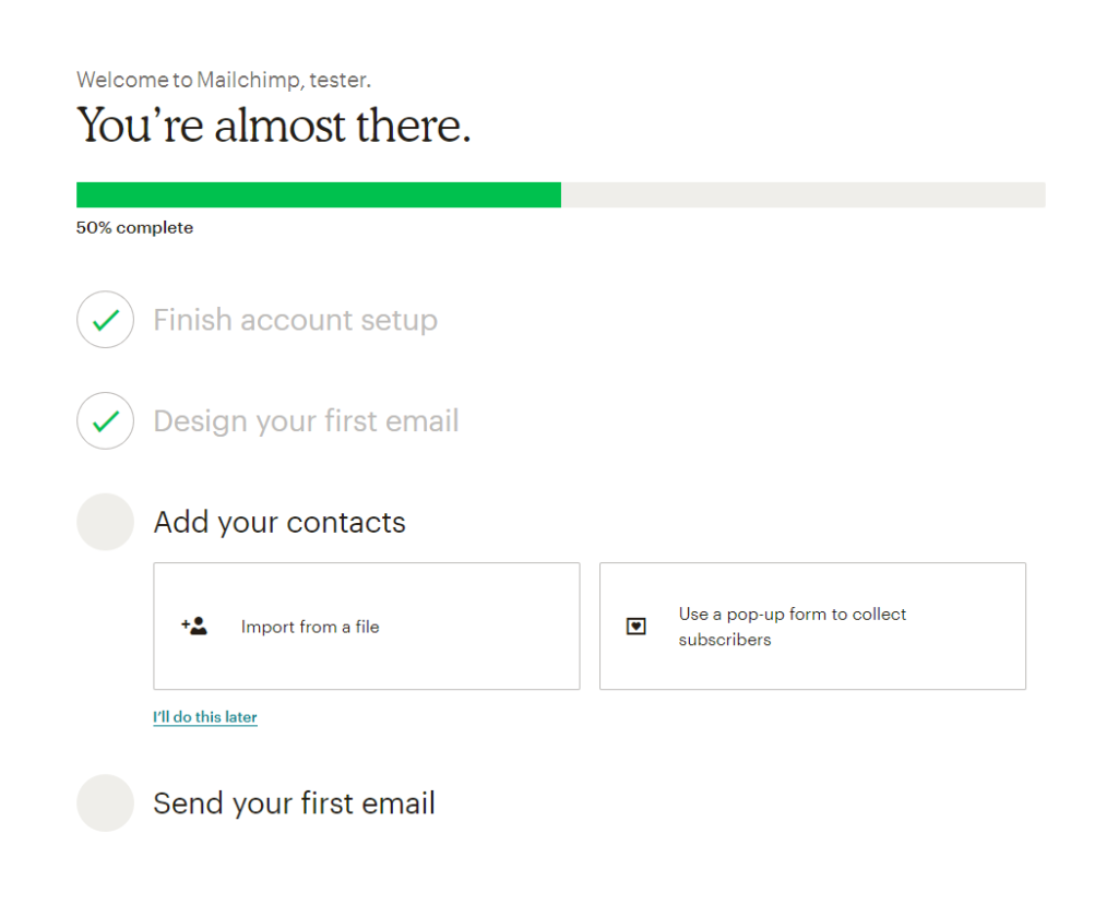 adding new contact to email
