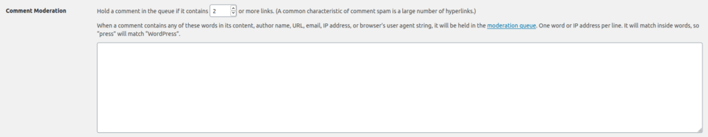 WordPress Comment Moderation